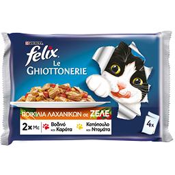 Γατοτροφή Ζελέ Βοδινό & Κοτόπουλο 4x100g
