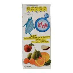 Χυμός Φυσικός Μήλο Πορτοκάλι Αχλάδι Βερίκοκο 250ml