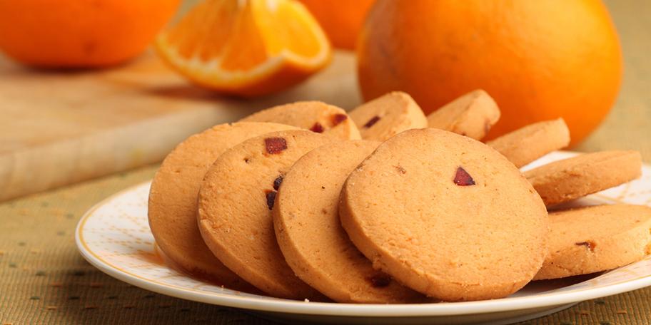 Μπισκότα με άρωμα πορτοκαλιού
