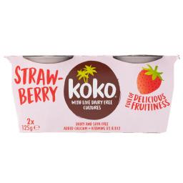 Επιδόρπιο Γάλα Καρύδας & Φράουλες Vegan 2x125g