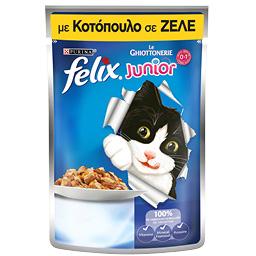 Γατοτροφή Ζελέ Junior με Κοτόπουλο 100g