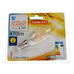 Λάμπα Led Filament E14 3.3W 1 Τεμάχιο