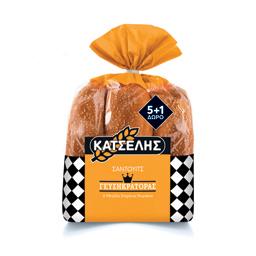 Ψωμάκια Sandwich Σταρένια 564gr 5+1 Δώρο