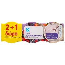 Επιδόρπιο Γιαουρτιού Φρούτα του Δάσους 3x200g 2+1 Δώρο