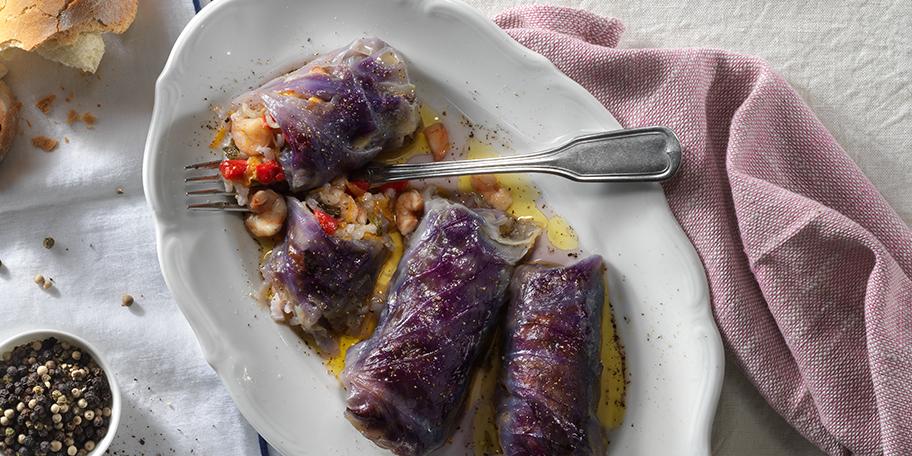 Λαχανοντολμάδες Γαρίδας