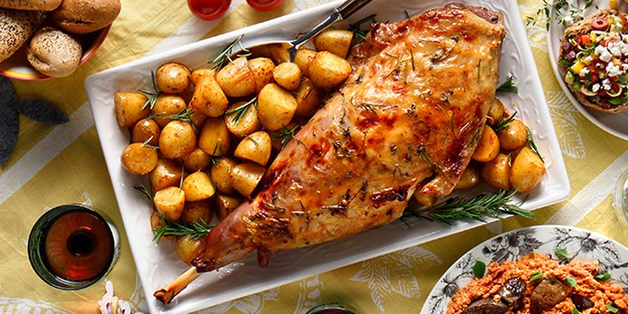 Αρνάκι ή κατσίκι με δενδρολίβανο, μουστάρδα και μέλι